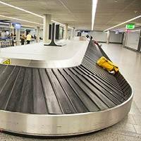 Airport baggage conveyor belt