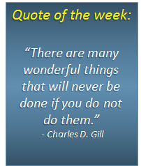 Quote of the week - 09/12/2013