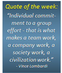 Quote of the week - 14/04/2014